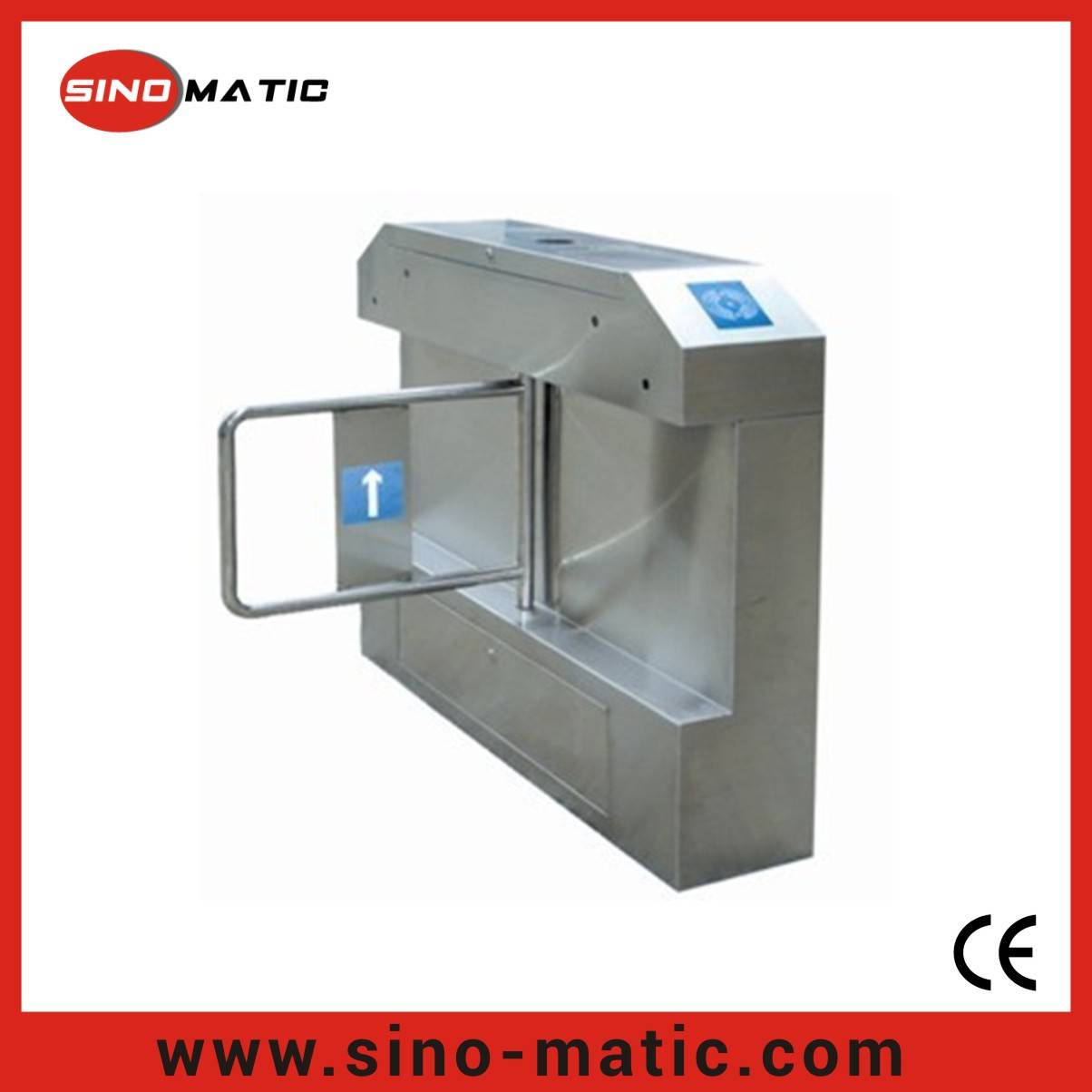304 Stainless Steel China Factory Security Access Control System Swing Barrier
