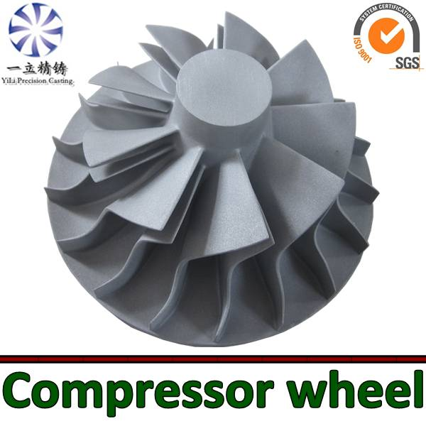 Aluminum alloy die casting compressor wheel used for diesel engine