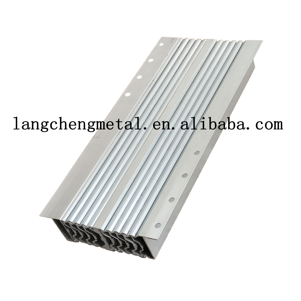 aluminum multi section console telescoping table slide extending mechanism for dining table