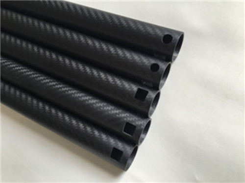 matte 3k twill carbon fiber tubes with different holes