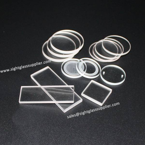 Transparent Clear Quartz through Flange sight glass