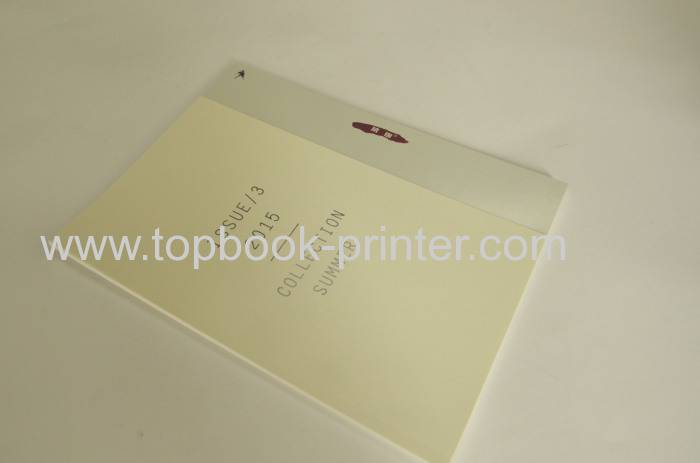 Custom die-cut cover design softcover book print on demands