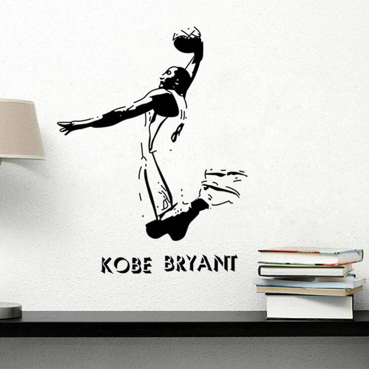 New Removable Sports Wall Stickers NBA Basketball Player Lakers Kobe Bryant Poster Wall Stickers Art