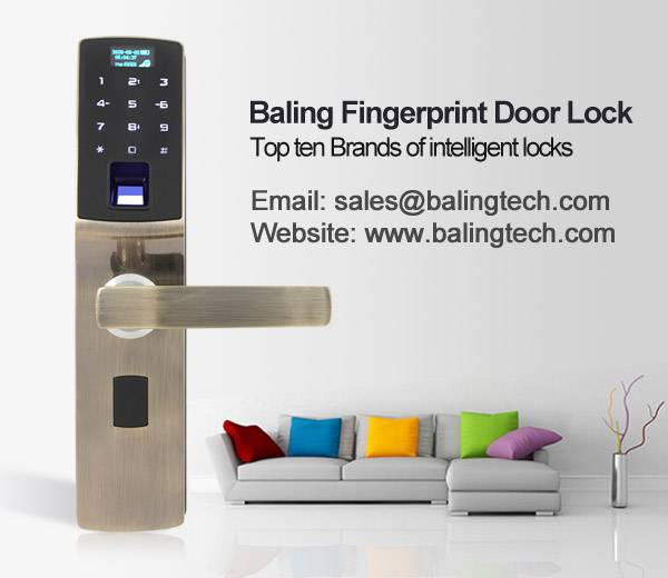 fingerprint keypad door lock smart home door lock brand made in china