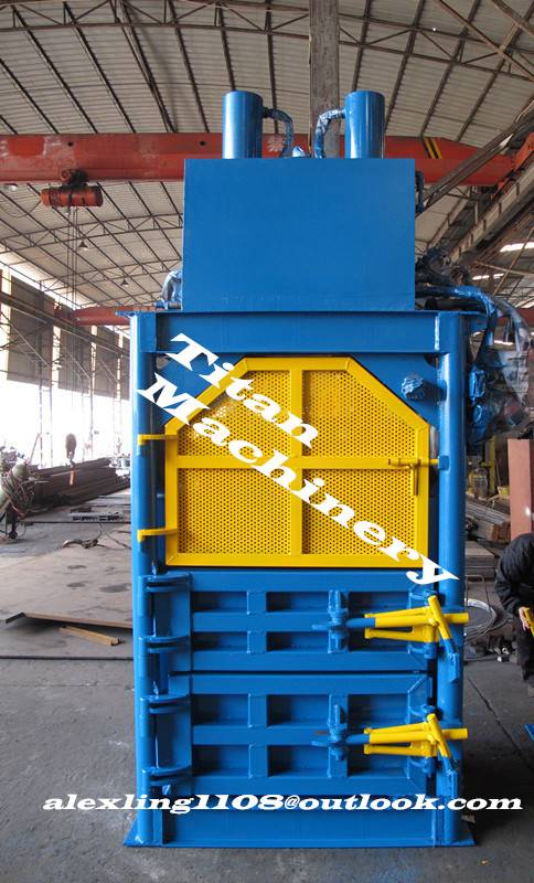 vertical waste paper baler baling press machine