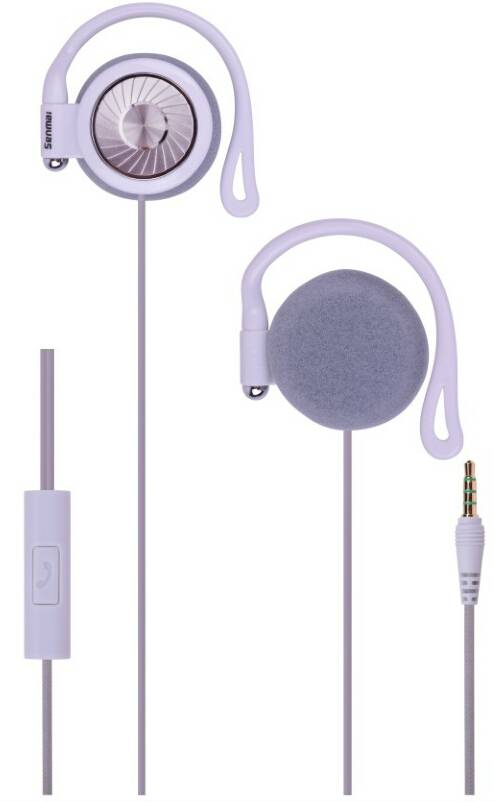 On-ear earphone/headphone ,comfortable ear hook is ideal for wearing and sport,with line-controlled