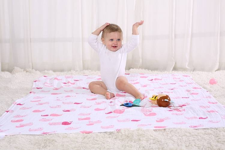 LAT Wearable Baby Cotton Muslin Swaddle Blanket