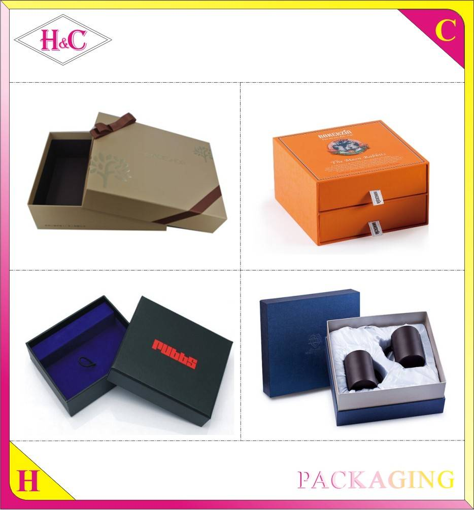 Wholesale handmade cardboard retail packaging customized gift box