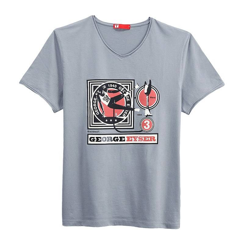 George Eyser Short Sleeve T-shirt (Men) Gray