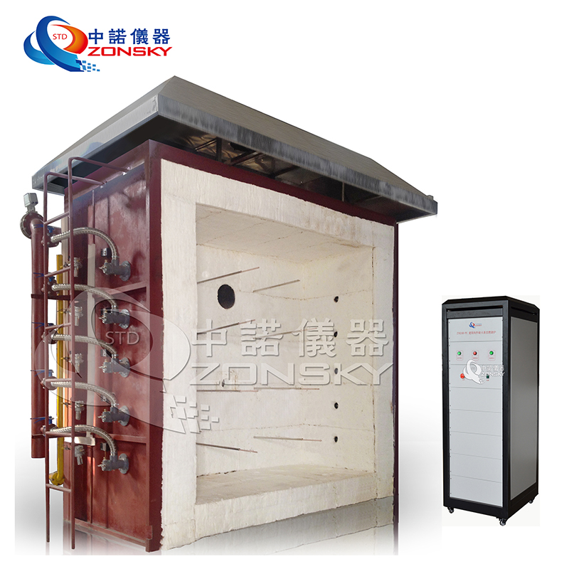 ASTM E136 Laboratory Fire Resistance Vertical Test Furnace Of Building Materials And Elements