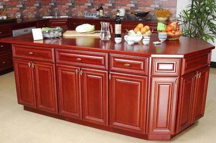 Wooden Kitchen Table and Cabinet
