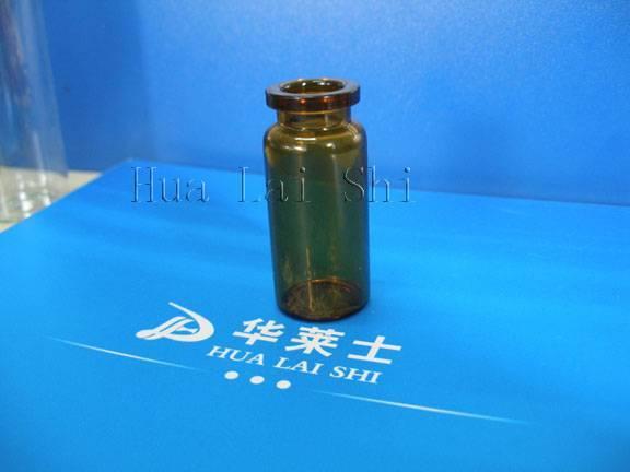 10ml amber tubular glass bottle