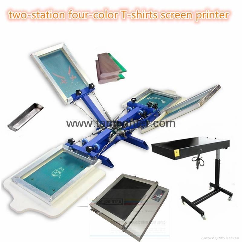 TM-R4K 2-station 4 color T-shirts screen printer