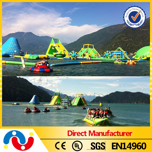 cheap attractive water park inflatable / inflatble water park