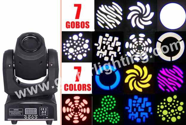 Mini 30w moving head spot light