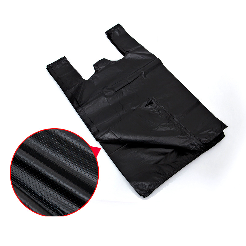 Good Quality Recycled Packaging Use Custom Design Black Color PE Plastic Garbage Bag