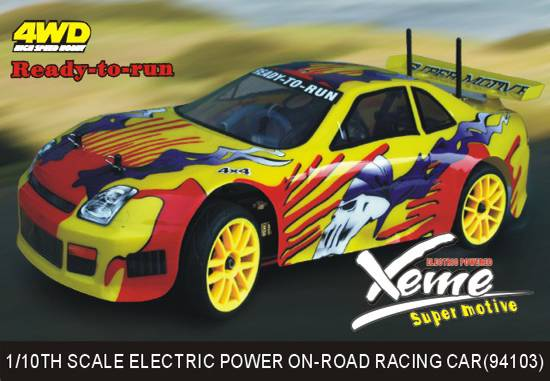1:10th Scale Electric Power On-road racing Car