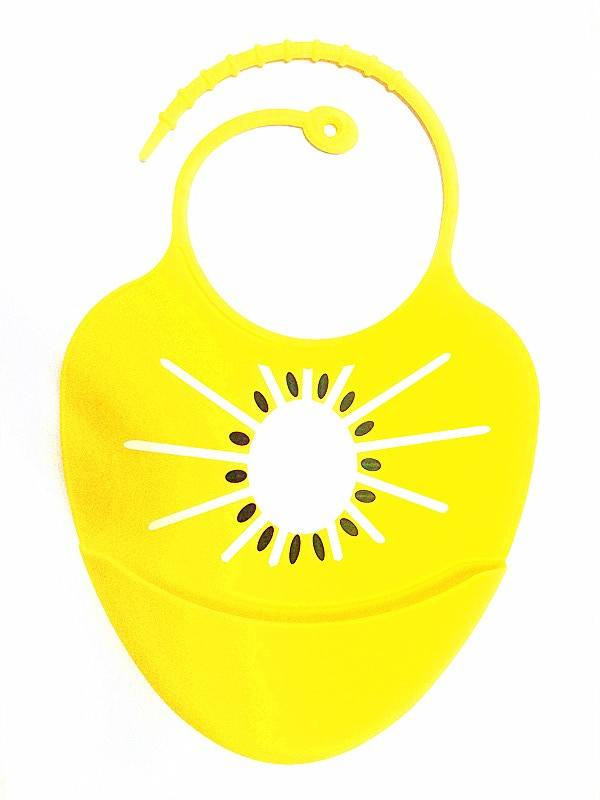 Baby bibs made from silicone, cute design, colorful different patterns, soft safe and durable