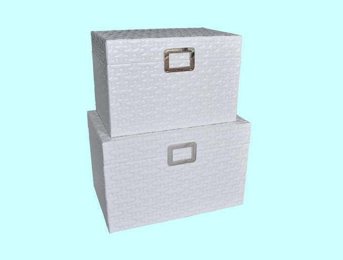 Puzzle Storage Boxes in Shinning Leather
