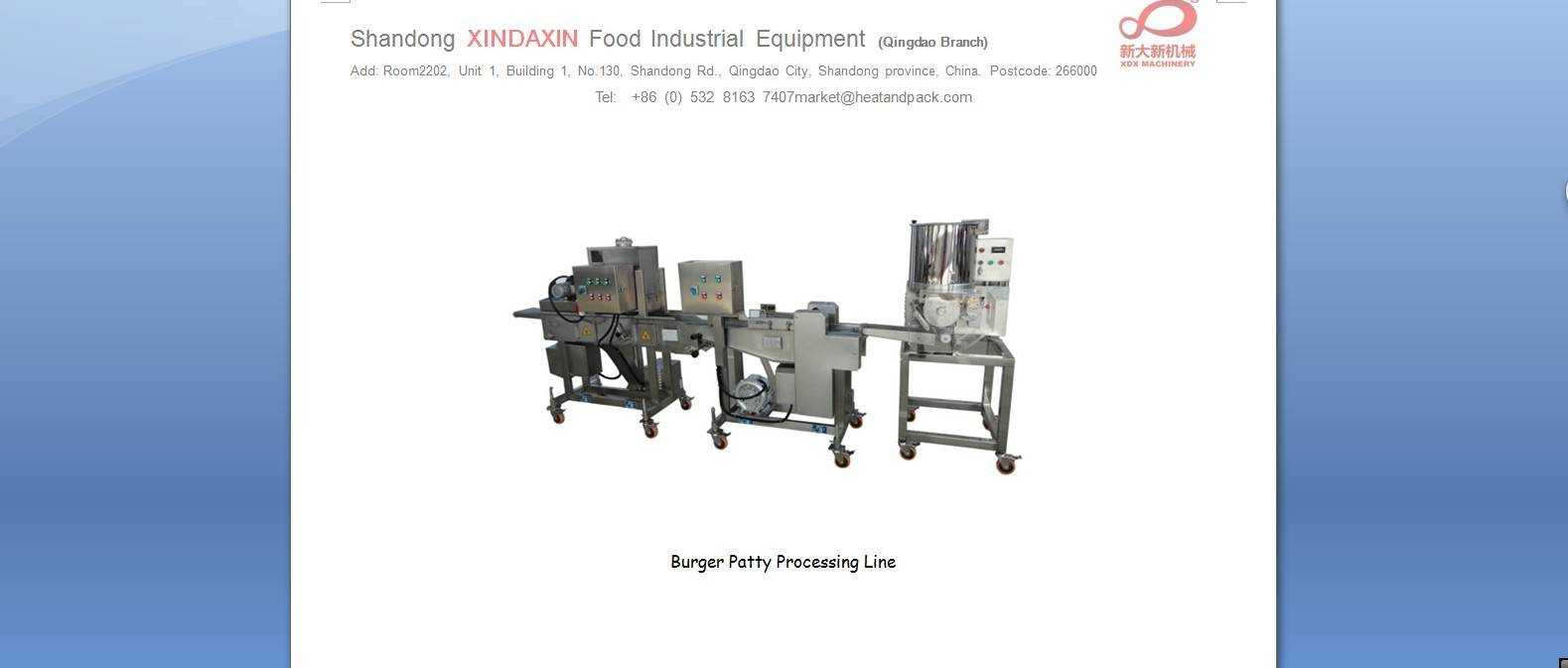 Prepared Food Forming Machine