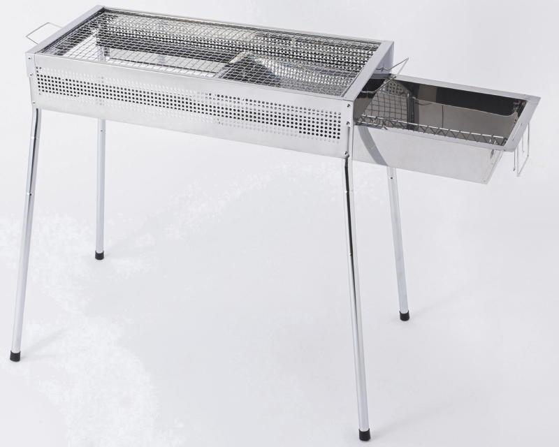 Late model outdoor bbq charcoal grill with stainless steel surface