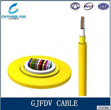 High quality Indoor Ribbon Fiber Cable GJFDV 4 core fiber optic cable
