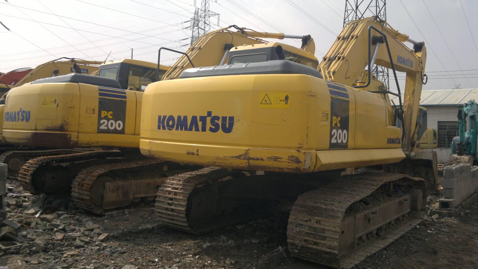 cheap second hand komatsu PC200-7 excavator