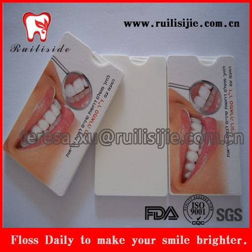 Business Card Dispenser Dental Floss Card Shape 30meter with Custom Private Label