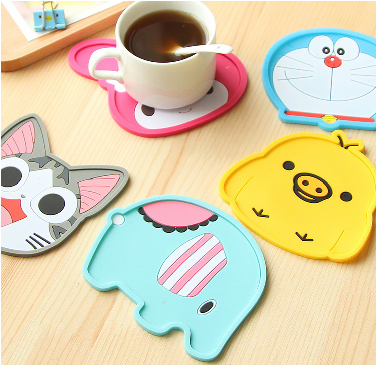 Wholesale Rubber PVC Coffee Cup Coaster