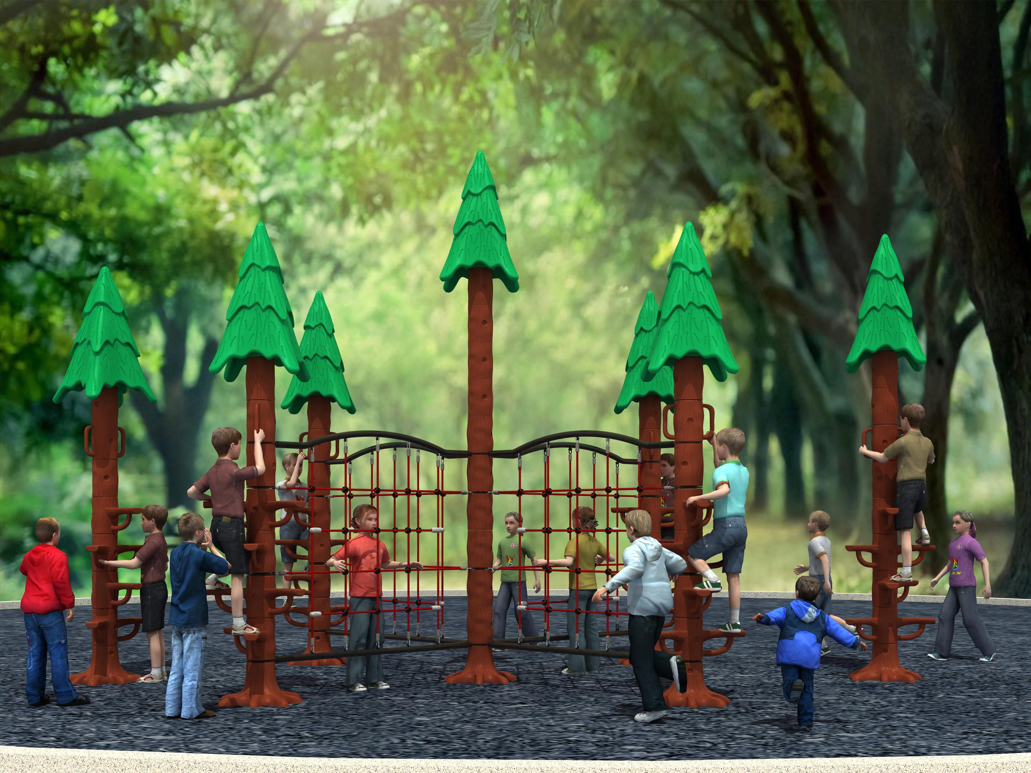 WD-HP102 Sequoia Climber Trees in Outdoor Playground, GS certificated