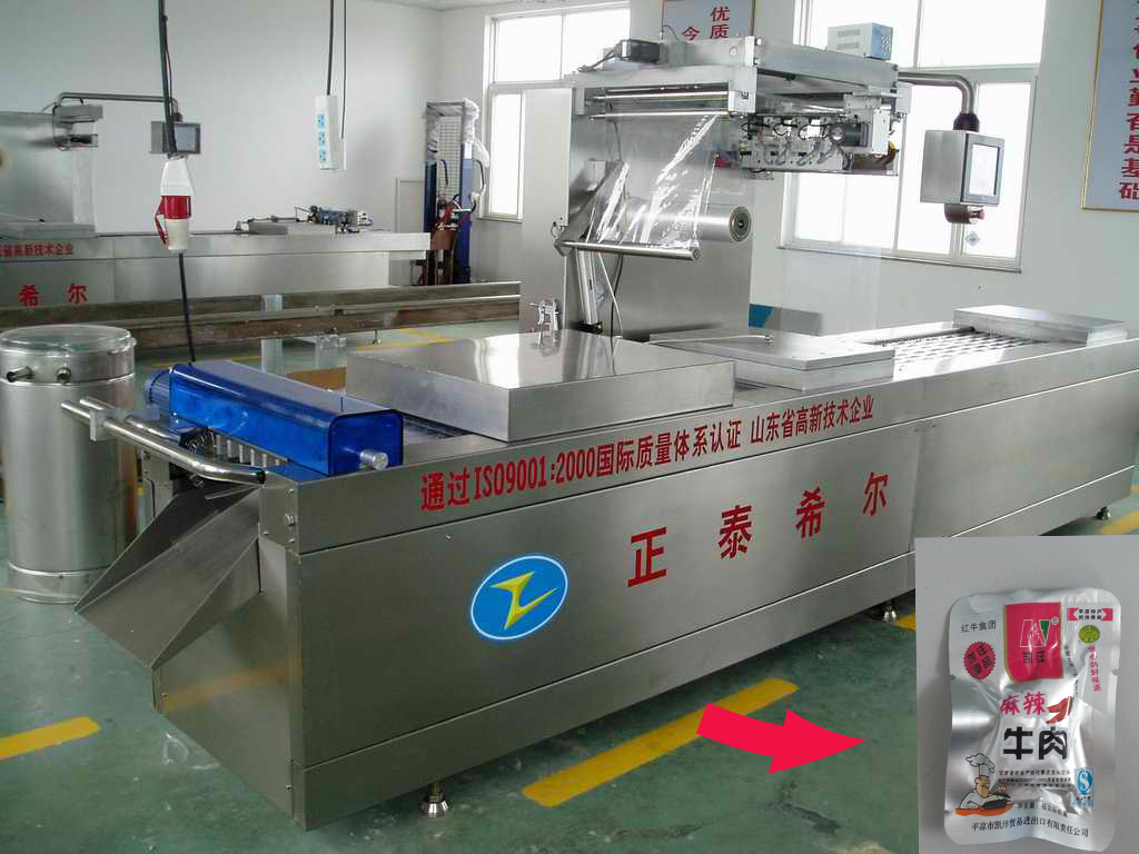 DZR420 Automatic Continuous Stretch Vacuum Packing Machine
