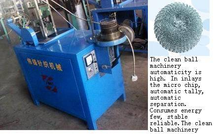 Netted clean ball machine