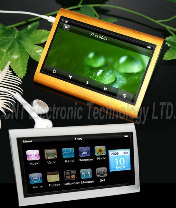 4.3 inch HD QVGA screen MP5 player with touch screen