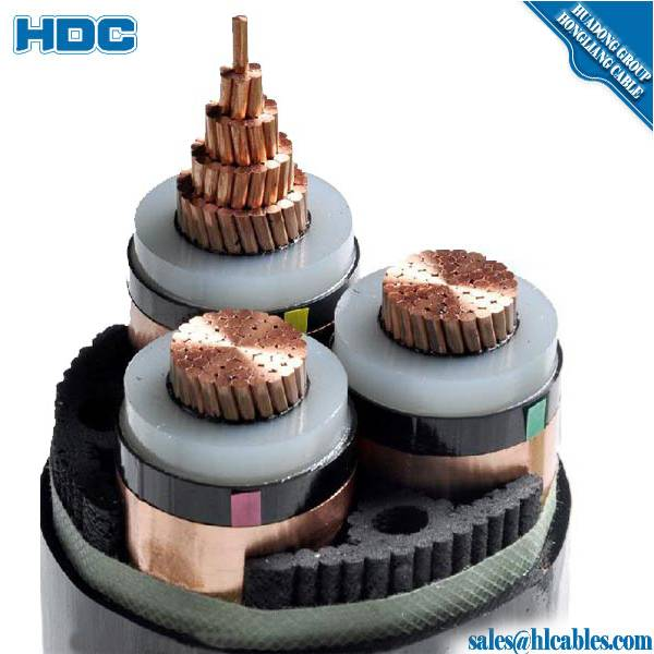 Waterproof single core Copper XLPE 110kV 500sqmm underground high voltage power cable price