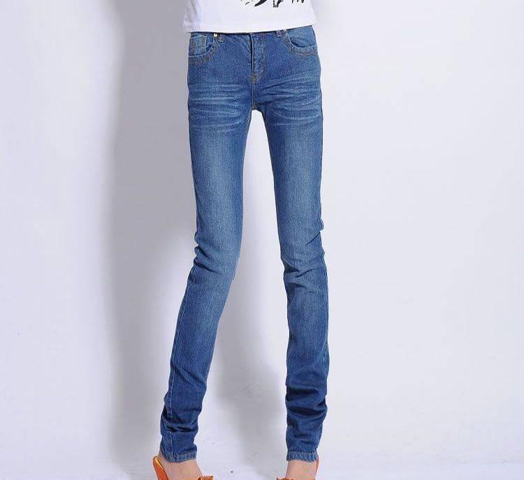 lady's skinny denim fashion jeans
