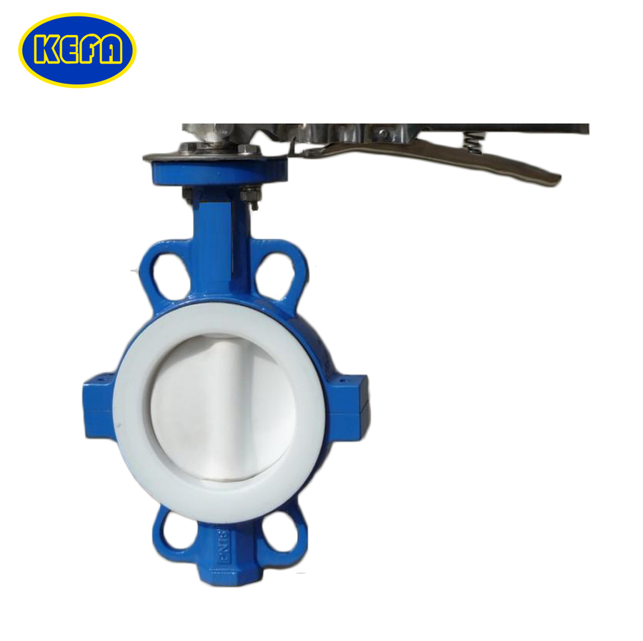 High performance wafer type butterfly valve