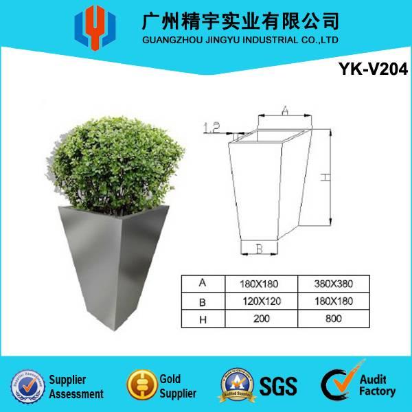 stainless diamond-shaped steel flower vase