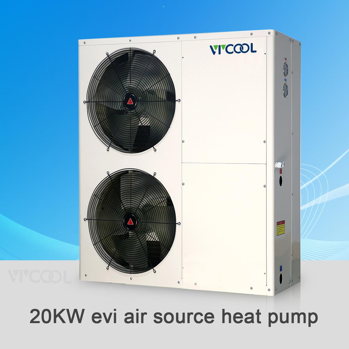 V-COOL evi air water heat pump