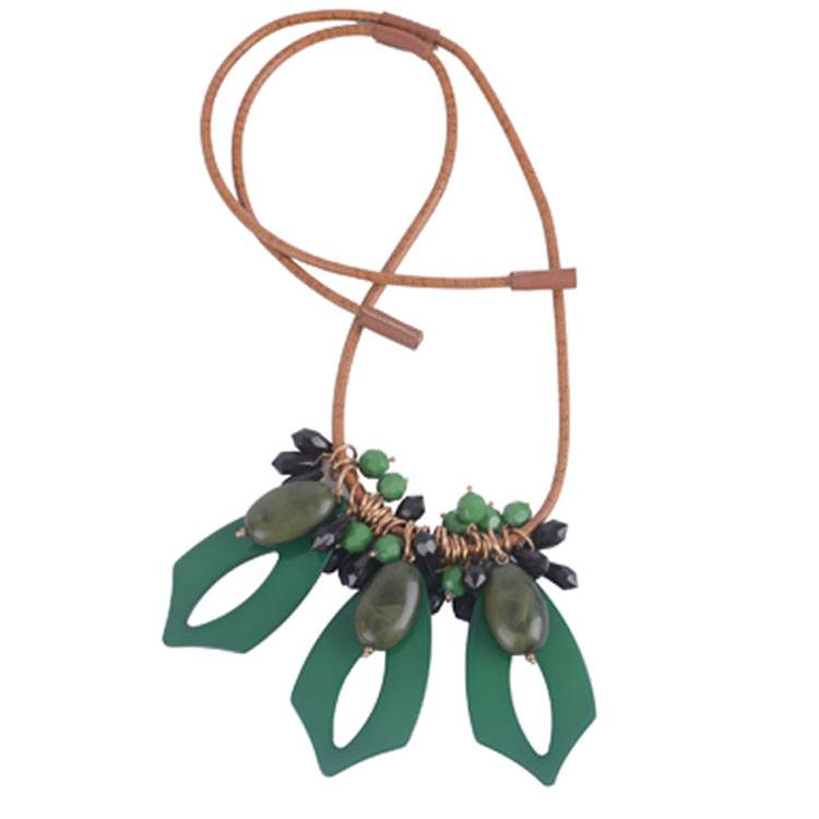Green Pendant Necklace Fashion Jewelry Acrylic Necklace Jewelry 2015