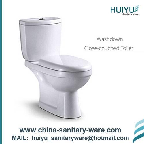Top Flush Two Piece Toilet Lavatory