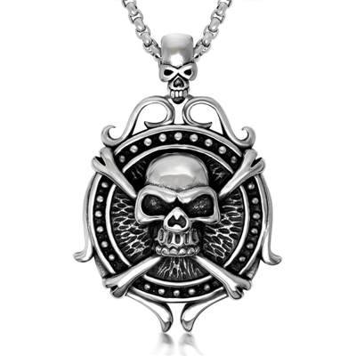 Skull retro stainless steel jewelry pendant[OEM/ODM]