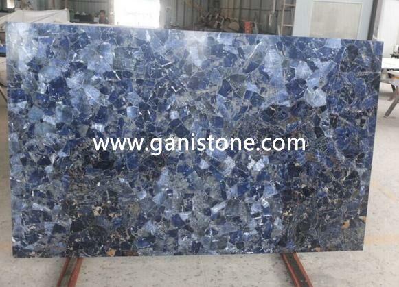 Sapphire Semi Precious Stone Backlit Slab