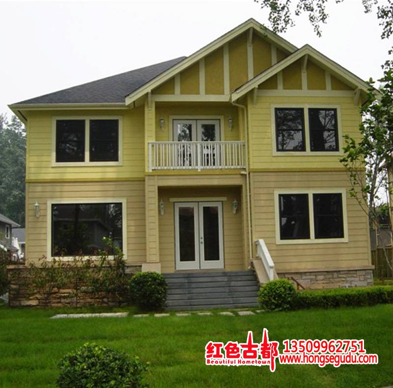 Supply Two-story Living Wooden House Supply Log Cabin Home Modern Chalet