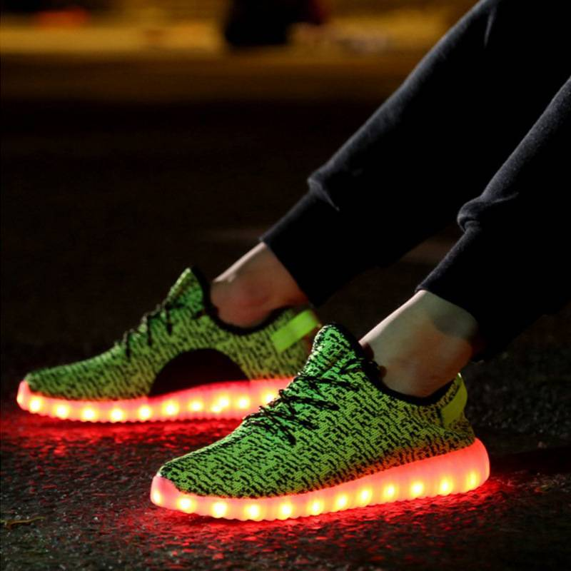 2016 New Style Colorful Running Sport LED Shoes
