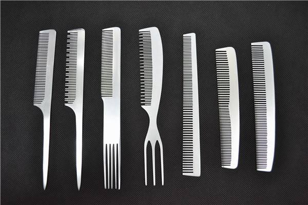 Professional Hair Brush Aluminum Flat Comb