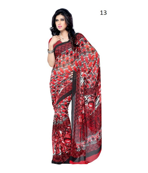 Fancy Indian printed Saree Online