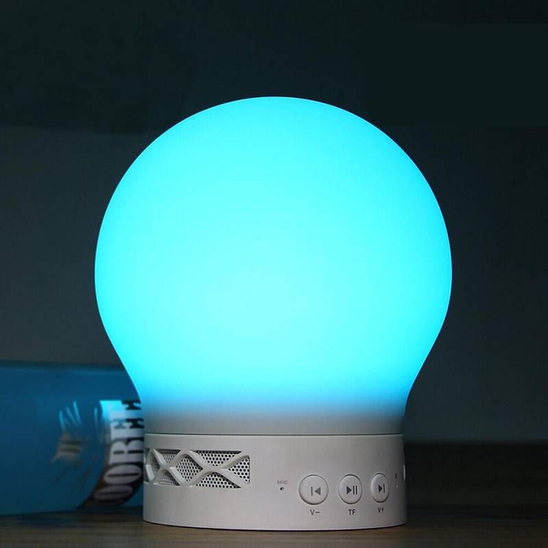 Bluetooth 4.0 speaker fantastic stereo music lamp touch control stand light