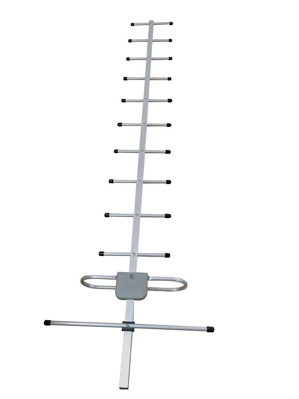 TDT UHF ground wave receiving yagi antenna with 12 units and high gain low VSWR