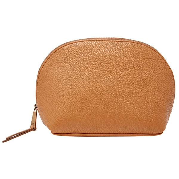 Hot sale zipper leather cosmetic packaging bag