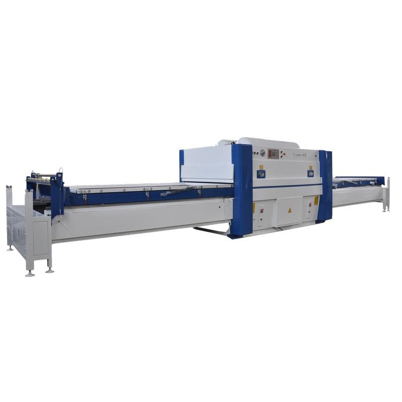 Double Station PVC Film Vacuum Laminating Heating Membrane Press Machine For Wood Kitchen Door